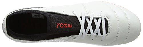 Puma Herren One 17.2 FG Fußballschuhe Weiß (White-Black-Fiery Coral)