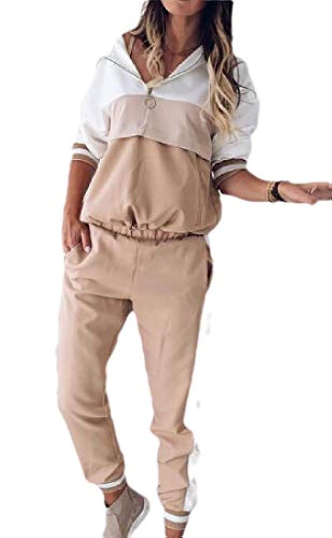 葉巻デンプシー複雑でないFly Year-JP 女性の2 PCSトラックスーツセットパーカースウェットシャツとジョギングスウェットパンツスーツ