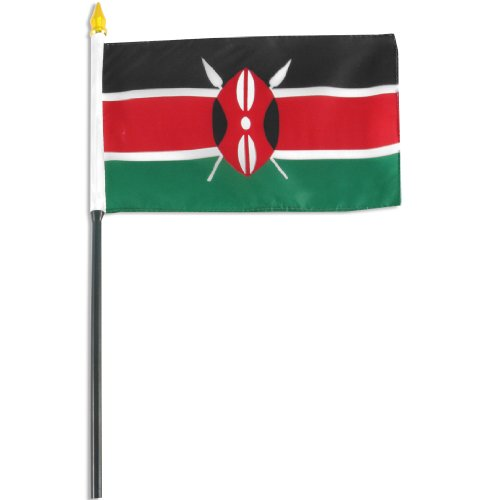 US Flag Store Kenya Flag, 4 by 6-Inch