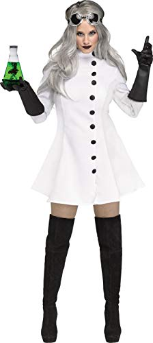 Fun World Women's Mad Scientist, Multi, Size M (Women Scientist Costume)