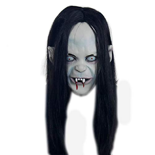NiceWave Halloween mask Scary Witch mask Hairstyles Long