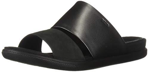 4266f9d1ca02 ECCO Women s Women s Damara Ii Slide Flat Sandal Black Dark Shadow