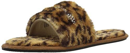 (bebe Women's Charlena Slipper, Leopard, 9 Medium US)