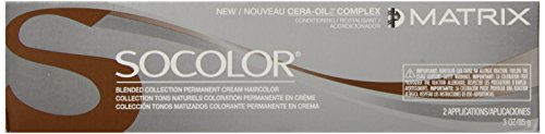 Black Matrix Design - Matrix Socolor Permanent Cream Hair Color, Black Neutral, 3 Ounce