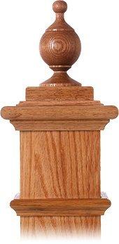 LJ-9002 Red Oak Chablis Finial for Box ()
