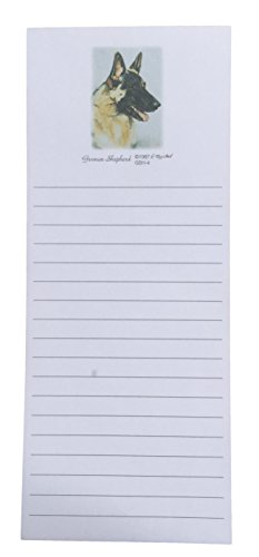 German Shepherd Dog Magnetic Refrigerator List Pad ()