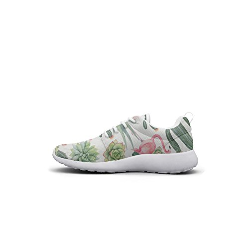 Hoohle Womens Sports chams Shoes Sneakers Roshe Fashion Succulents Cute Mesh Lightweight And Cactus Pattern Flex 1 Cactus wqwdC5r