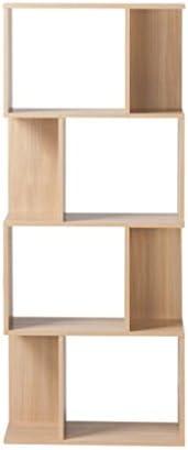 GRJH® 幾何棚、クリエイティブな本棚、リビングルーム木製棚3層、4層 防水性と耐久性 ( 色 : 4 layers )