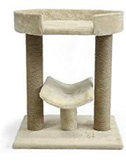 AmazonBasics Top Platform Cat Tree - 18 x 14 x 22 Inches, Beige
