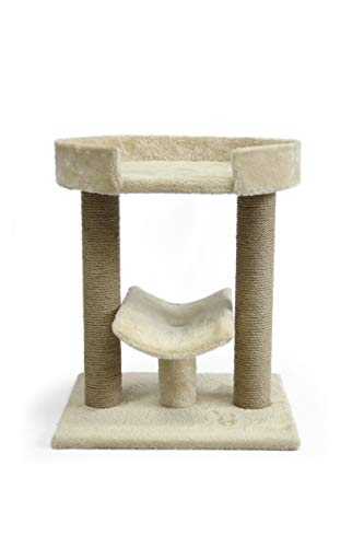 AmazonBasics Top Platform Cat Tree - 18 x 14 x 22 Inches, Beige