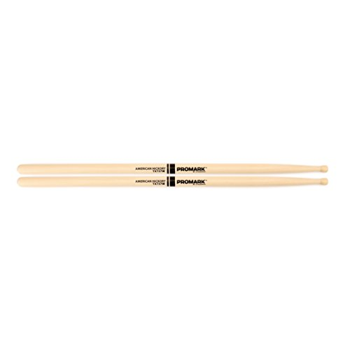 Promark Hickory TX737W Wood Tip - Hickory Drumsticks Pro Natural Mark