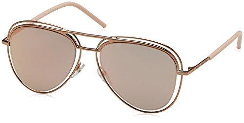 (Marc Jacobs Metal Aviator Sunglasses 54 026J Redgd Pink (0J gray rose gold lens))