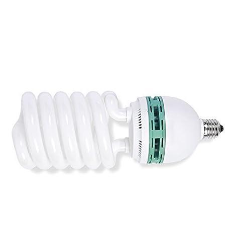 Bombilla Fluorescente de bajo Consumo en Espiral con Casquillo LFC para iluminaci/ón de Estudio de fotograf/ía o v/ídeo Phot-R
