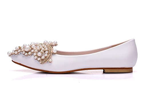 36 MGM Femme Compensées 5 Sandales Joymod Blanc Blanc YFq6T4Y