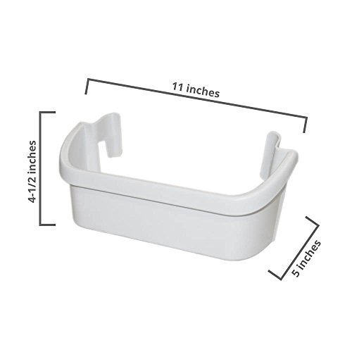 Frigidaire 240367301 Freezer Door Shelf Bin White - Refrigerator Freezer Door Shelf