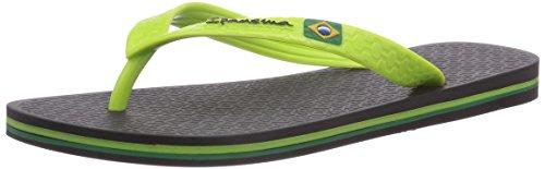 Classica II Brasil Black Ipanema Green Schwarz Nero Infradito donna 23238 CUqwawHF