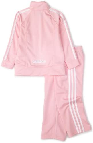 adidas Baby Girls Tricot Zip Jacket and Pant Set Tracksuit