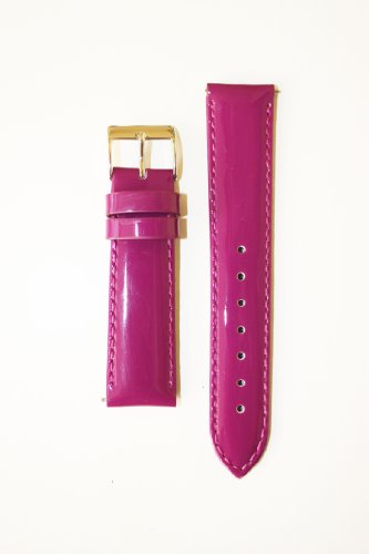 Michele Style 18mm Purple Patent Leather Watchband with Quick Release