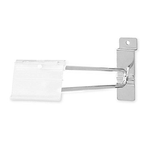 AMKO SW/SNH4 4 In. Slatwall Scanner Hooks - Pack of 100 slatwall Hooks with Label Holder, Industrial (Scanner Frame Assembly)