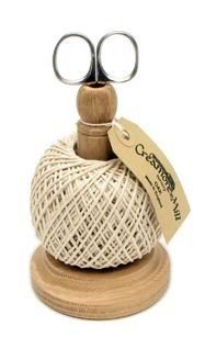 Creamore Mill UK Made Oak String / Twine Tidy with Natural Cotton String and Stainless Scissors