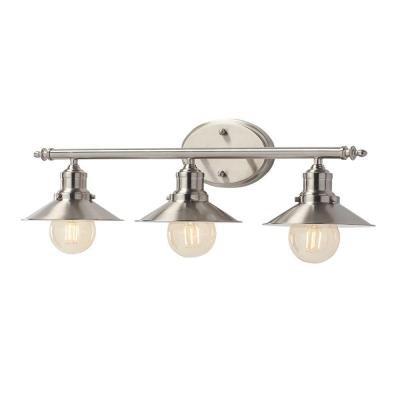 Home Decorators Collection 3-Light Brushed Nickel Retro Vanity Light