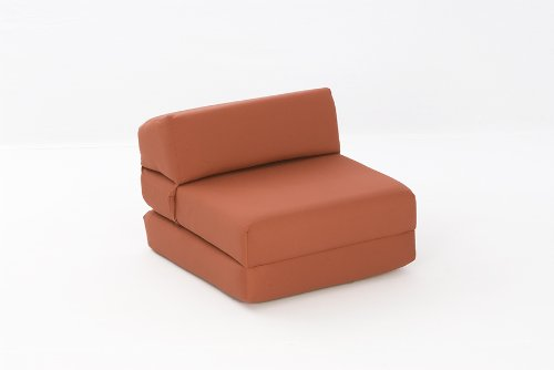Mia Single Chair Bed in TERRACOTTA Cotton Drill Comfy Living