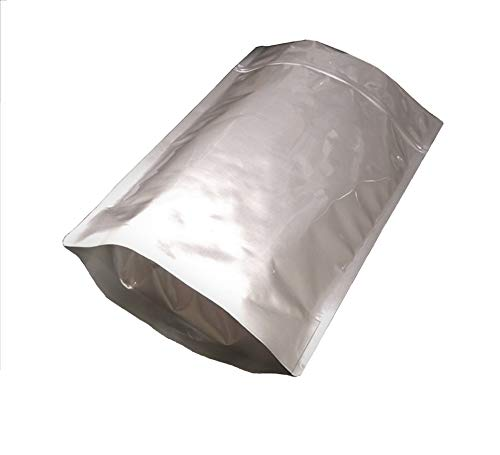 Pleasant Grove Farm 7 Mil Zip Lock Mylar Bags Stand Up Pouch Gusseted Pouch in Multiple Sizes (10, 2.5 GALLON 14 x 20 Inch)