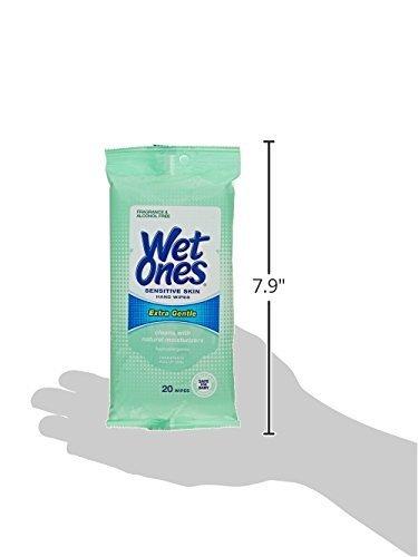 Toallitas húmedas de manos para piel sensible, antibacterianas, extra suaves, 20 toallitas, 2 unidades Toallitas húmedas, paño de limpieza, ...