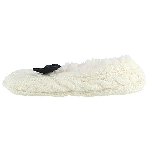 Blanc pour Chaussons Taille CTM Femme Unique 5pXTxqwB