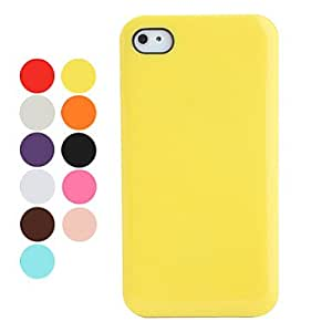 Candy Colors Case with Screen Protector for iPhone 4 and 4S (Assorted Colors) , Rose