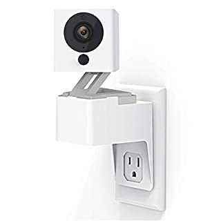 Wyze Cam Outlet Wall Mount, Upgraded 360 Degree Swivel AC Outlet Wall Plug Mount Stand Holder Bracket Without Messy Wires or Wall Damage (wyze cam)