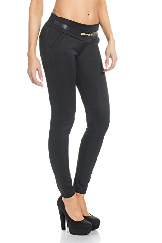 Elegante Damen Hose LeggingsTreggings Jeggings Winter Thermo Stoff 17136