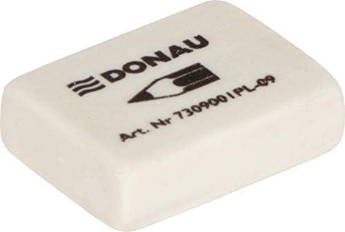 DONAU 7309001PL-09 Radiergummi/Radierer, universell, 31 x 23 x 9 mm, weiß