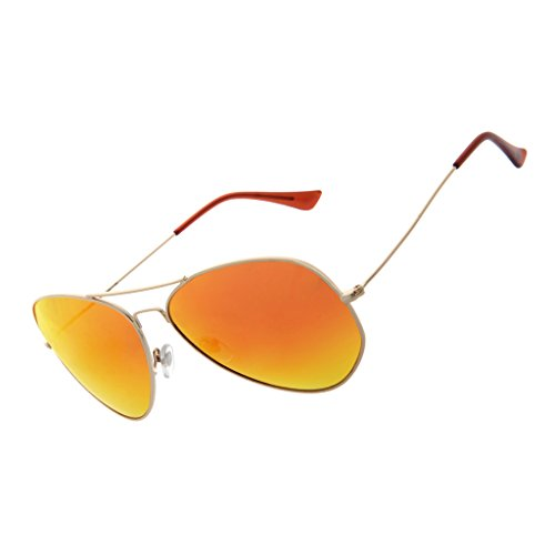 LianSan Sunglasses Polarized for Men Aviator Metal Driving Fishing Glasses LSP025 (orange, - Test Sunglasses Protection Uv