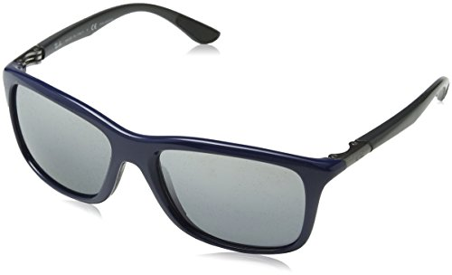 Ray Ban RB8352 Active Lifestyle Sunglasses - 622282 Blue (Polarized Silver Mirror Lens) - - Around Sunglasses Ray Wrap Ban