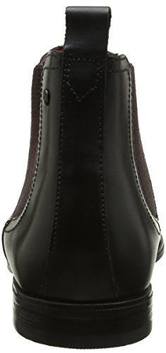 Base London William, Stivali Uomo Nero (Noir (Waxy Black))