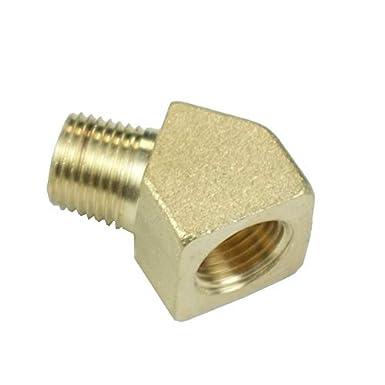 3//8NPT X 3//8NPT, 2 Brass Street Elbow 45 Degree Brass Pipe Fitting NPT Thread