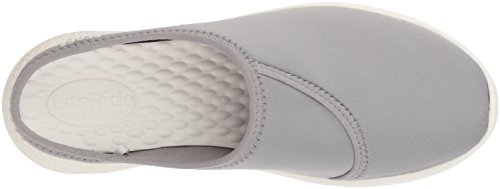 Crocs Women's LiteRide Mule Light Grey/White cheap shop cheap sast cheap sale how much discount sneakernews OHzyq1VEM
