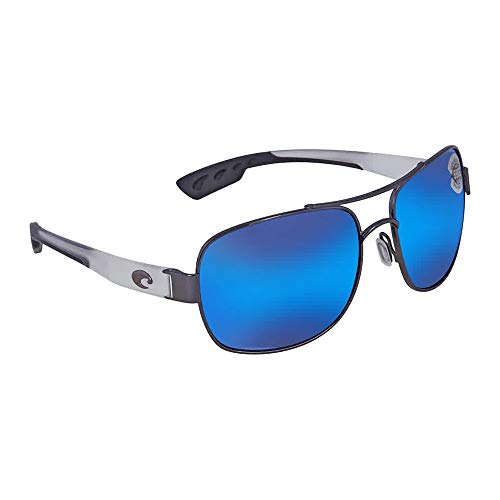 Costa Del Mar Cocos 580G Cocos, Gunmetal with Crystal Temples Blue Mirror, Blue ()