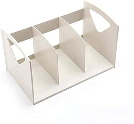 WSJTT Document Organizer Desk File Sorter Holder Dreibettzimmer Ordner Organizer Mehrzweck-Organizer Anzeige Magazine - Sortieren von Dateien und Ordnern (Color : B)