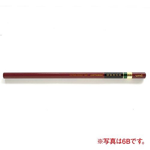 Mitsubishi Pencil Kohitsu Shosha for pencil hexagon axis 1 dozen 4B (japan import) Photo #3