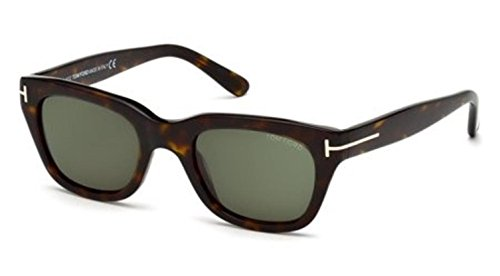 Tom Ford Snowdon FT0237 Sunglasses-52N Dark Havana (Green ()