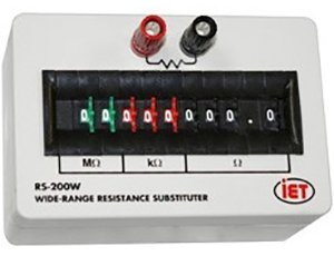 IET LABS RS-201 RESISTANCE DECADE BOX, 0 TO 9999999 OHM