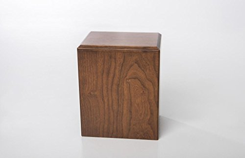 LifeSong Milestones Cherry Wood Cremation Urn, Deep Cherry Finish
