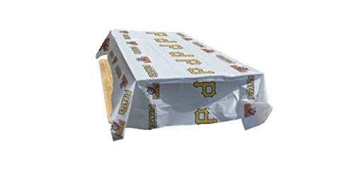 RICO INDUSTRIES MLB Pittsburgh Pirates Vinyl Table Cover, One Size, Team ()