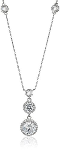 Sterling Zirconia Pendant Enhancer Necklace