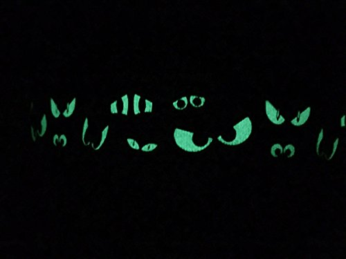 Spooky Eyes Glow in the Dark Dog Collar by You Had Me at Woof