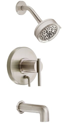 Danze Nickel Tub - Danze D510058BNT Parma Single Handle Tub and Shower Trim Kit, 2.5 GPM, Valve Not Included, Brushed Nickel