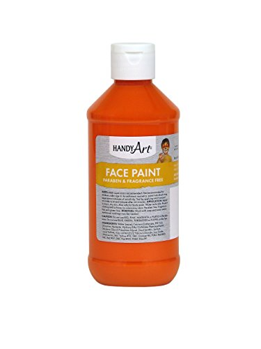 Handy Art 556-015 Face Paint, Orange, 8-Ounce ()