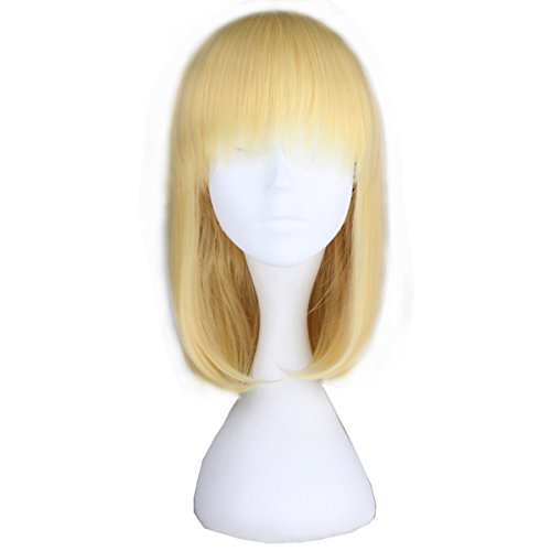 Miss U Hair Girl's Short Straight Harajuku Style Women Bobo Hair Anime Cosplay Party Wig (C046 40cm -